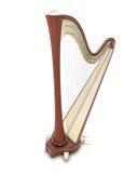 Harp 3d illustration. Stock Photo