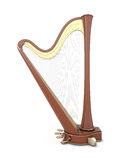 Harp isolated on a white Royalty Free Stock Photos
