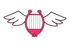 Harp met vleugels royalty-vrije illustratie