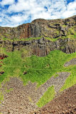 The Harp, part of the Amphitheatre, from Port Reostan, Giants Causeway Stock Photos