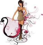harp piękności Obrazy Royalty Free