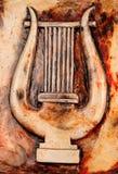 Harp plaque Stock Photo