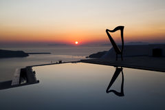 Harp's reflection at sunset Royalty Free Stock Photo
