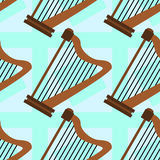 Harp seamless background design Stock Photos