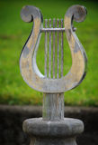 Harp statue Stock Images