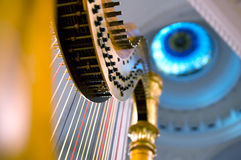 Harp strings close up royalty free stock photography