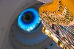 Harp strings close up Royalty Free Stock Image