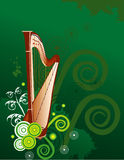 Harp vector composition Royalty Free Stock Image