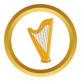 Harp vector icon Stock Photography