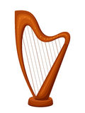 Harp. Vector illustration. Royalty Free Stock Photo