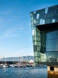 Harpa —Reykjavik konserthall och konferensmitt Royaltyfria Bilder