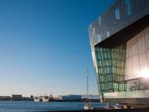 Harpa —Reykjavik konserthall och konferensmitt Royaltyfri Foto