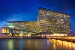 Harpa & Blue Hour Royalty Free Stock Photo
