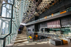 Harpa Concert Hall Photographie stock libre de droits