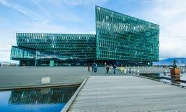 Harpa Concert Hall and Conference Center in Reykjavik Stock Image