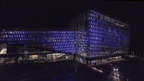 Harpa Concert Hall Iceland Reykjavik stock video