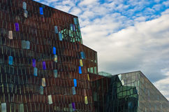 Harpa concert hall in Reykjavik harbor at early morning, Iceland Stock Photography