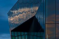 Harpa concert hall in Reykjavik harbor at sunrise, Iceland Stock Image