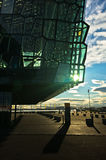 Harpa concert hall in Reykjavik harbor at sunrise, Iceland Royalty Free Stock Image
