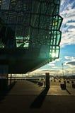 Harpa concert hall in Reykjavik harbor at sunrise, Iceland Royalty Free Stock Image