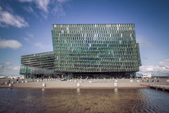 Harpa concert hall in Reykjavik, Iceland. Royalty Free Stock Image