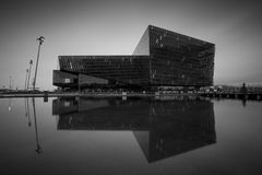 Harpa concerthall Royalty-vrije Stock Foto