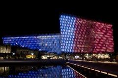 Harpa dans des couleurs françaises Images libres de droits