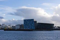 Harpa Hall Rekjavik, Island Fotografering för Bildbyråer