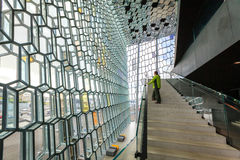 Harpa interior Royalty Free Stock Photo