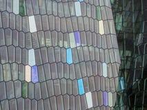 Harpa konsert- och kongresskorridor i Reykjavik Arkivfoto
