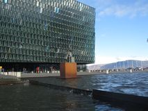 The Harpa. The modern concert hall of Reykjavik Stock Photos