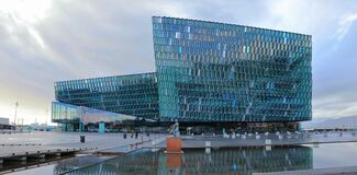 Reykjavik, Western Iceland - Harpa Music Hall and Conference Centre at the Waterfront