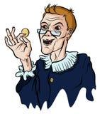 Harpagon держа монетку иллюстрация штока
