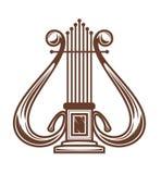 Harpe d'instrument musical illustration stock