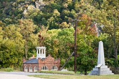 Harper's Ferry Courthouse. Historic Harper's Ferry where John Brown led his revolt in the Civil War Royalty Free Stock Photography