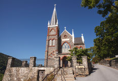 Harpers Ferry Historic Stone Church West Virginia Royalty Free Stock Images