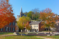Harpers Ferry historic town in autumn, West Virginia, USA. Stock Photography