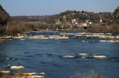 Harpers Ferry Landscape. Historic Harpers Ferry, at the confluence of the Shenandoah and Potomac Rivers in the state of West Virginia, is one of the most Stock Images