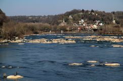 Harpers Ferry Landscape. Historic Harpers Ferry, at the confluence of the Shenandoah and Potomac Rivers in the state of West Virginia, is one of the most Royalty Free Stock Image