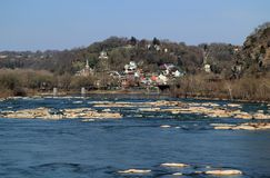 Harpers Ferry Landscape. Historic Harpers Ferry, at the confluence of the Shenandoah and Potomac Rivers in the state of West Virginia, is one of the most Royalty Free Stock Photos