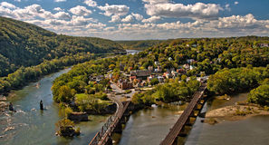 Harpers Ferry Overlook Panorama in Autumn Royalty Free Stock Images