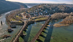 Harpers Ferry Overlook Panorama Stock Images