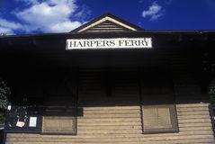 Harpers Ferry Train Station, WV Royalty Free Stock Images