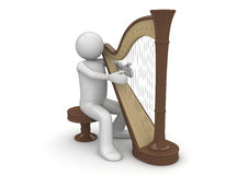 Harpist Stock Photography