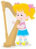 Harpist vector illustratie