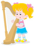 Harpist Royalty Free Stock Image