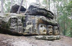 Harpist - Rock Sculptures Royalty Free Stock Photography