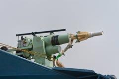 Harpon du bateau de pêche à la baleine japonais Yushin Maru Photo libre de droits
