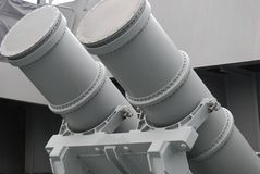 Harpoon Missile Launchers Royalty Free Stock Photo