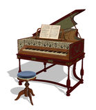 Harpsichord stock images